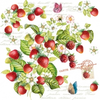 Lunch napkins Romantic Strawberry