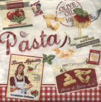 Lunch napkins Vintage Home Collection Pasta