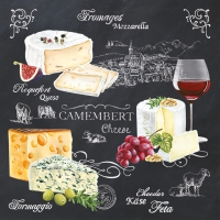 Serviettes lunch World of Cheese