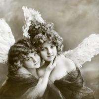 Lunch Servietten Vintage Angels