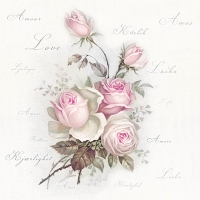 Serviettes lunch Love Rose