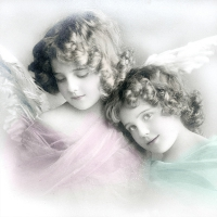 Lunch Servietten Colored angels