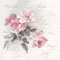 Lunch napkins Wild Rose