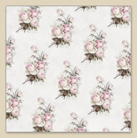 Serviettes de table 25x25 cm - Petites Roses Vintage