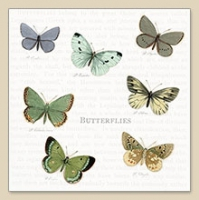 Cocktail napkins Butterflies