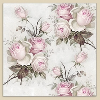 Serviettes de table 40x40 cm - roses