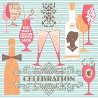 Linclass Dinner Napkins - CELEBRATION blau