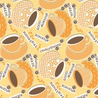 Linclass Dinner napkins KAFFEE OLE gelb / orange