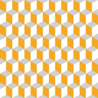 Linclass Dinner napkins CHICAGO orange / grau