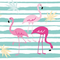 Linclass Dinner napkins Flamingo