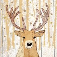 Serwetki 33x33 cm - Henk beige dunkel