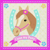 Lunch napkins Pony rosa