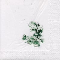 Lunch napkins foil stamping - green