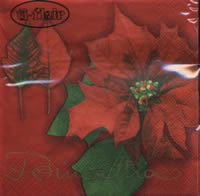 Cocktail napkins Poinsettia red