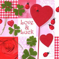 Cocktail napkins Love&Luck