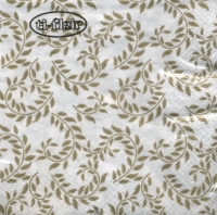 Cocktail napkins Adornos Florales gold-white