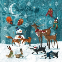 Lunch napkins Winter Foerest Scene