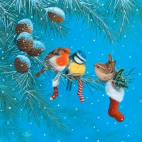 Lunch napkins Tree Birds on Branch