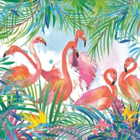 Lunch napkins Flamingos