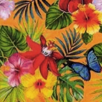 Lunch napkins Jungle Fever orange