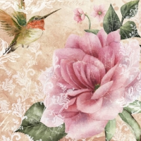 Serviettes lunch Hummingbird beige