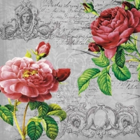 Serwetki 33x33 cm - Deux Roses Classique Black
