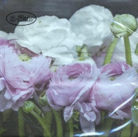 Lunch napkins Pink & White Ranunculus