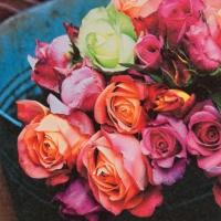 Lunch Servietten Les Roses sur Marche