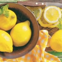 Lunch Servietten Lemons in Bowl