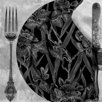 Lunch napkins Black Dinner Setting