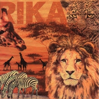 Servietten 33x33 cm - Afrika Collage ockerfarben