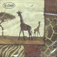 Lunch Servietten Giraffe Collage