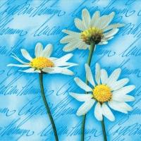 Lunch Servietten Blooming Daisies blue