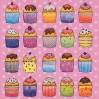 Lunch napkins Cup Cakes