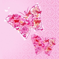 Lunch napkins Papillons de R?ve pink