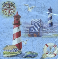 Lunch napkins Nautical Chart & Icons