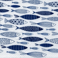 Napkins 33x33 cm - Shoal of Blue Fish