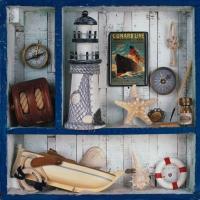 Serviettes de table 33x33 cm - Voyage de Mer