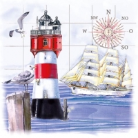 Lunch napkins Lighthouse & Compass