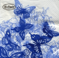 Lunch napkins Amazing Butterflies blue