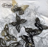 Lunch napkins Amazing Butterflies anthracite