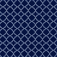 Lunch napkins Quattrefoil Lattice navy