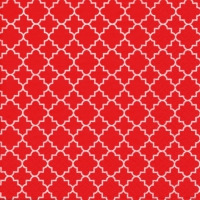 Lunch napkins Quattrefoil Lattice red