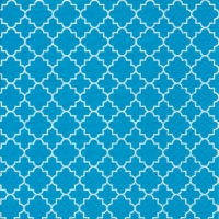 Lunch napkins Quattrefoil Lattice teal