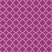 Lunch napkins Quattrefoil Lattice pink