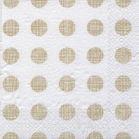 Lunch napkins Melissa gold/pearlwhite