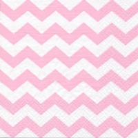 Servilletas Lunch Chevron light pink