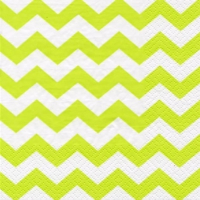 Lunch napkins Chevron lime