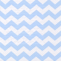 Lunch napkins Chevron light blue