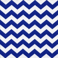 Lunch Servietten Chevron navy